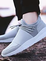 Недорогие -Для мужчин обувь Дышащая сетка Весна Осень Удобная обувь Кеды для Повседневные Белый Черный Серый