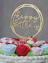 Cake Topper Family Birthday Acrylic Monogram Plastic Party Birthday with Acrylic Trim 1 OPP