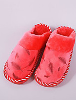 cheap -Women's Shoes Polyamide fabric Cotton Winter Comfort Slippers & Flip-Flops Flat for Casual Outdoor Pink Red Coffee Purple Gray