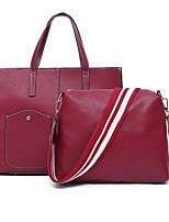 cheap -Women Bags PU Bag Set 2 Pieces Purse Set Zipper for Outdoor Office & Career All Season Brown Red Black Blue