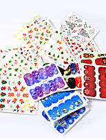 cheap -45 Nail Decals Christmas Nail Sticker Multi-Color Nail Decoration