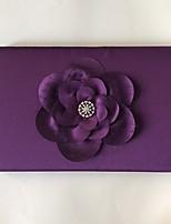 cheap -Satin Romance Fantacy WeddingWithRhinestone Bowknot 1 Package Box Guest Book