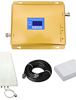 GSM 900mhz 2G DCS 1800mhz 4G LTE Signal Booster Mobile Phone Signal Repeater with Log Periodic Antenna / Panel Antenna / LCD Display / Full Set