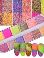 economico -1set Motivo/Decorazione Brillante e glitterato Cipria Polvere di glitter Glitter per unghie Modelli fantasia Nail Art Design Suggerimenti