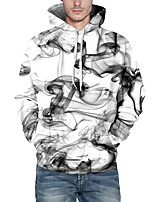 cheap -Men's Plus Size Casual/Daily Simple Hoodie & Sweatshirt Print Hooded Inelastic Polyester Long Sleeve Winter Fall