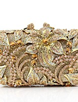 Women Bags Metal Evening Bag Pearl Detailing for Event/Party All Season Gold