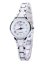 cheap -Women's Wrist watch Chinese Quartz Casual Watch Alloy Band Luxury Elegant Black White Silver Gold