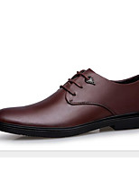 cheap -Men's Shoes Cowhide Spring Fall Comfort Oxfords for Casual Brown Black