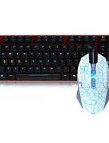 abordables -dareu con cable teclado mecánico ratón rojo cambia 1,8 m siete clave 6000 ppp