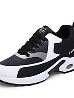 cheap -Men's Shoes PU Spring Fall Comfort Sneakers Stitching Lace for Athletic Casual Black White