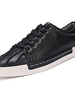 cheap -Men's Shoes PU Spring Fall Comfort Oxfords for Casual Blue Brown Black