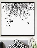 Недорогие -ботанический Масляные картины Предметы искусства,Сплав материал с рамкой For Украшение дома Предметы искусства в рамках Гостиная Столовая