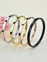 Недорогие -Жен. Браслет цельное кольцо Подарок Мода Нержавеющая сталь Геометрической формы Бижутерия Свадьба Для вечеринок День рождения