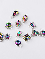 cheap -12PCS Fashion Color Intrigue Alloy Jewel Nail Art Decoration