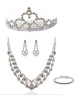 cheap -Women's Chain Necklace Bridal Jewelry Sets Rhinestone Imitation Diamond Alloy Heart Fashion European Wedding Party Body Jewelry 1