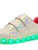 Недорогие -Девочки обувь Лакированная кожа Материал на заказ клиента Дерматин Зима Осень Удобная обувь Обувь с подсветкой Кеды Для прогулок На