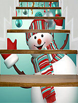 cheap -Christmas Fantasy Wall Stickers Housing Plane Wall Stickers 3D Wall Stickers Decorative Wall Stickers Wedding Stickers,Paper Vinyl Home