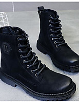 cheap -Men's Shoes Synthetic Microfiber PU Spring Fall Comfort Combat Boots Boots Mid-Calf Boots for Casual Black