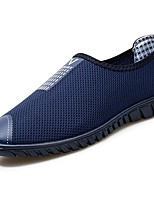 cheap -Men's Shoes Breathable Mesh Summer Comfort Loafers & Slip-Ons for Casual Gray Dark Blue Black
