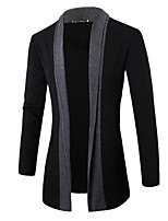 cheap -Men's Daily Wear Simple Regular Cardigan,Striped V Neck Long Sleeves Polyester Fall Medium Stretchy