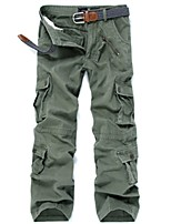 Men's Hiking Cargo Pants Outdoor Windproof Wearable Winter Pants / Trousers Multisport