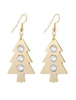 cheap -Women's Drop Earrings Dangle Earrings Rhinestone Bohemian Fashion Elegant Crystal Alloy Christmas tree Tree of Life Jewelry Gift Evening