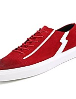 cheap -Men's Shoes Synthetic Microfiber PU Winter Fall Comfort Sneakers for Casual Red Gray Black