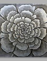 economico -Dipinta a mano Floreale/Botanical Modern Tela Hang-Dipinto ad olio Decorazioni per la casa Un Pannello