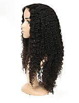 cheap -Remy Human Hair Full Lace Wig Brazilian Hair Jerry Curl With Baby Hair Natural Hairline Short Medium 130% Density Women's