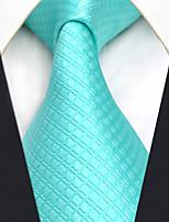 Недорогие -Для мужчин Винтаж Очаровательный Для вечеринки Для офиса На каждый день Галстук,Все сезоны Шёлк Однотонный Светло-синий