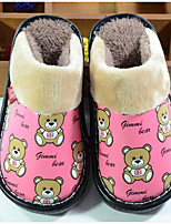 cheap -Boys' Shoes Leatherette Winter Fall Comfort Slippers & Flip-Flops for Casual Red Coffee Fuchsia Black