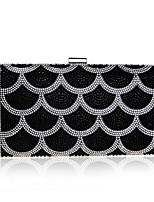 cheap -Women Bags Polyester Evening Bag Crystal Detailing for Wedding Event/Party All Season Silver Black Gold