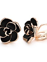 cheap -Women's Clip Earrings , Simple Fashion Gold Plated Flower Jewelry Carnival Prom