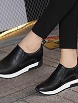 economico -Per donna Scarpe PU (Poliuretano) Primavera Comoda Sneakers Footing Ballerina Punta tonda Punta chiusa per Casual Nero