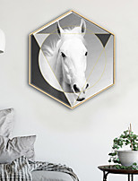 cheap -Animal Shapes Illustration Wall Art,PVC Material With Frame For Home Decoration Frame Art Living Room Kitchen Dining Room Bedroom Office