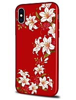 billiga -fodral Till Apple iPhone X / iPhone 8 Plus Mönster Skal Blomma Mjukt TPU för iPhone X / iPhone 8 Plus / iPhone 8