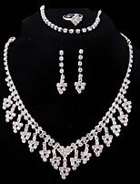 economico -Per donna Set di gioielli I monili nuziali Classico Di tendenza Matrimonio Feste Argento placcato 1 collana 1 bracciale 1 anello Orecchini