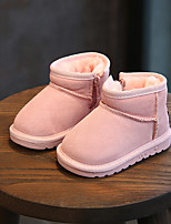 cheap -Girls' Shoes PU Winter Fall Snow Boots Fluff Lining Boots Booties/Ankle Boots Mid-Calf Boots LED for Casual Dress Black Gray Pink