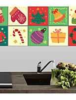 Noël Stickers muraux Autocollants muraux 3D Autocollants muraux décoratifs,Vinyle Décoration d'intérieur Calque Mural Mur