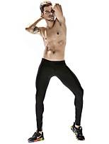 preiswerte -Herrn Enge Laufhosen Dehnbar Hosen/Regenhose Strumpfhosen/Lange Radhose Yoga Rennen Übung & Fitness Nylon Eng Schwarz Rot Blau S M L XL