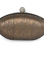 Недорогие -жен. Мешки Металл Вечерняя сумочка Бусины для Для праздника / вечеринки Все сезоны Серебряный Кофейный