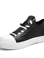 cheap -Men's Shoes Leatherette Winter Fall Comfort Sneakers Walking Shoes for Athletic Casual Black White