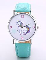 abordables -Hombre Mujer Reloj Casual Reloj de Moda Reloj de Pulsera Chino Cuarzo N/A PU Banda Casual Elegant Minimalista Negro Naranja Verde Morado