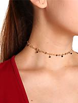 Недорогие -Жен. Свисающие Простой Милая Ожерелья-бархатки Кулоны Кристалл Медь Ожерелья-бархатки Кулоны , Для вечеринок Повседневные