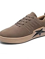 cheap -Men's Shoes Suede Spring Fall Comfort Sneakers Stitching Lace for Casual Outdoor Khaki Gray Black