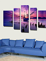 Canvas Set Classic,Five Panels Canvas Vertical Panoramic Print Wall Decor Home Decoration
