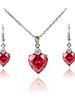cheap -Women's Jewelry Set Bridal Jewelry Sets Simple Classic Fashion Wedding Daily Silver Plated 1 Necklace Earrings