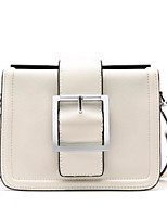 cheap -Women Bags PU Shoulder Bag Zipper for Casual All Season Khaki Black White