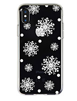 abordables -Coque Pour Apple iPhone X / iPhone 8 Transparente / Motif Coque Noël Flexible TPU pour iPhone X / iPhone 8 Plus / iPhone 8
