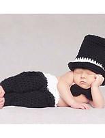 preiswerte -Baby Unisex Kleidungs Set Alltag Solide Baumwolle Ganzjährig Ärmellos Einfach Schwarz
